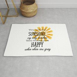 You Are My Sunshine Rug