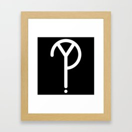 White Y? Symbol  Framed Art Print
