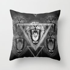 a moon for breakfast (monochrome series) Throw Pillow