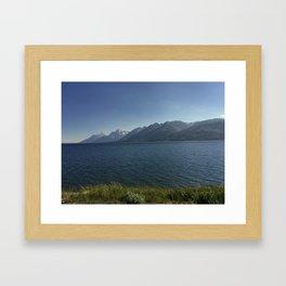 Grand Teton National Park, Wyoming From Across Jackson Lake Framed Art Print