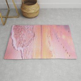 Pink sunset Rug