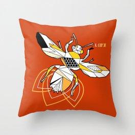 Geometric bzz bzz Throw Pillow