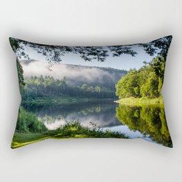 The River's Reflection Rectangular Pillow