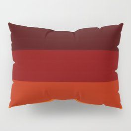 Orange Ombre Stripes Pillow Sham