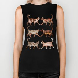 Cat Collection – Sepia Palette Biker Tank