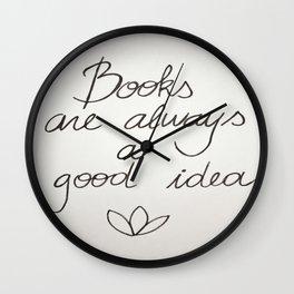Because books Wall Clock
