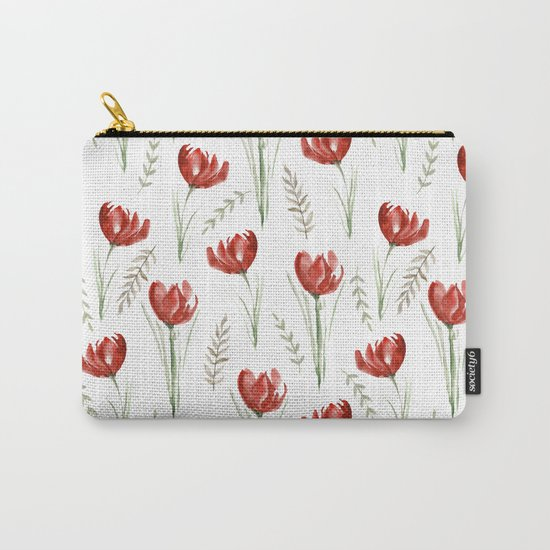 Red poppies. Watercolor Carry-All Pouch