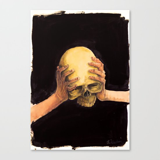 Head on Hands Canvas Print