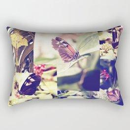 Yellow Flutterby Rectangular Pillow