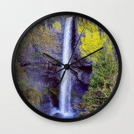 Latourell Falls, Oregon Wall Clock