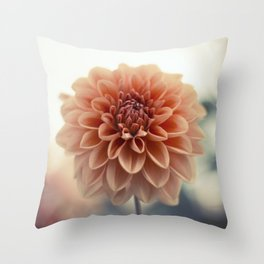 Dahlia Flower Throw Pillow