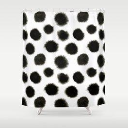Watercolor black spot pattern Shower Curtain