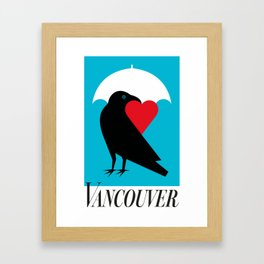 Vancouver's Canuck the Crow Framed Art Print