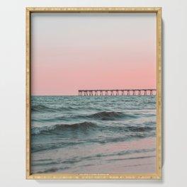 Pink Ocean Serving Tray