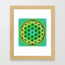Flower of life (green) Framed Art Print