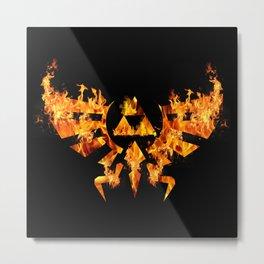 Zelda in Fire Metal Print