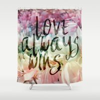 Love Always Wins Shower Curtain