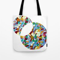 mozart Tote Bags featuring Mozart abstraction by Laura Roode