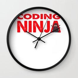Coding Ninja Programmer Programming Geek Gift Wall Clock