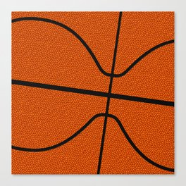 Fantasy Basketball Super Fan Free Throw Canvas Print
