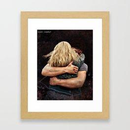 Bellarke hug - painting Framed Art Print