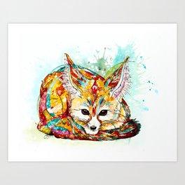 """""""You're So Foxy"""" - Fennec Fox Art Print"""
