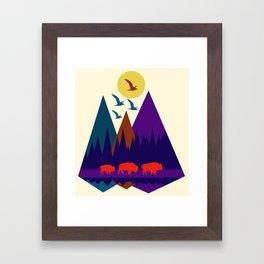 Three Bison Framed Art Print