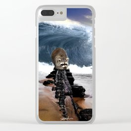 First time on the beach Clear iPhone Case