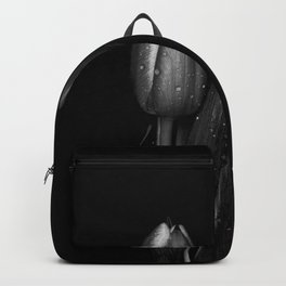 Tulip Curves Black and White Backpack