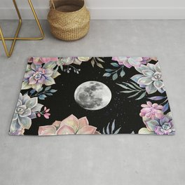 succulent full moon 4 Rug