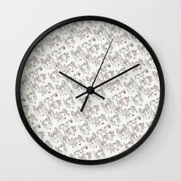 Skulls Pattern Wall Clock