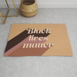 Black Lives Matter #typography Rug