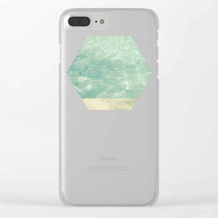 Morning Swim Clear iPhone Case
