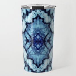 Tie Dye Linen Ikat Travel Mug