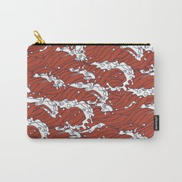 Seamless Oriental Red Sea Pattern Carry-All Pouch