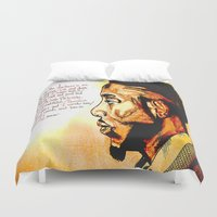 kendrick lamar Duvet Covers featuring Kendrick Lamar by Monroe the artist