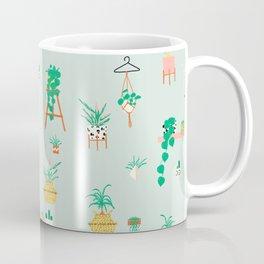 Plant Lady Scandinavian Apartment Pattern - Mint Coffee Mug