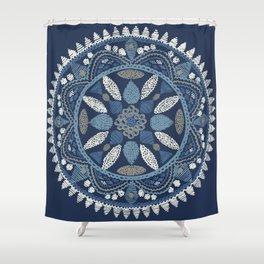 Jaipur Medallion Nantucket Blue Shower Curtain