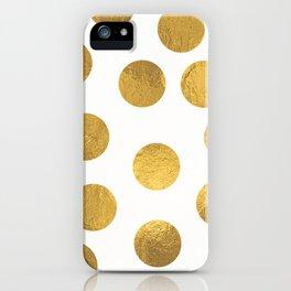 Gold Foil Polka Dots iPhone Case