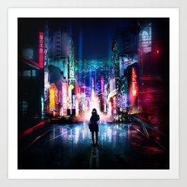 Tokyo Cyberpunk Japan Art Print