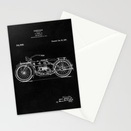 Motorcycle Blueprint 1919 Stationery Cards