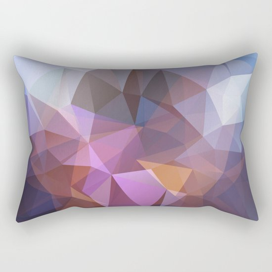 Abstract illustration of triangles polygon Rectangular Pillow