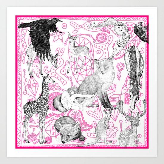 My Little Zoo Art Print