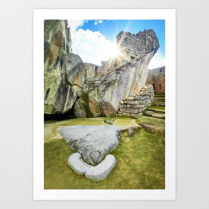Temple of the Condor at Machu Picchu Art Print