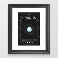 OMG SPACE: Uranus 1970 - present Framed Art Print