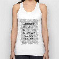 helvetica Tank Tops featuring Helvetica Jumble by SpareType