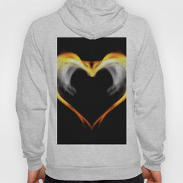 Fire heart with wings Hoody