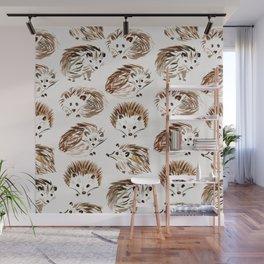 Hedgehogs Wall Mural