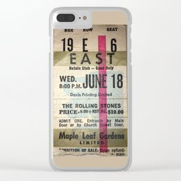Concert Ticket Stub - Stones Clear iPhone Case