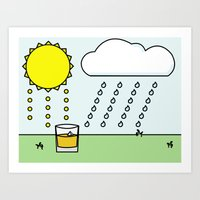 whisky Art Prints featuring Whisky Sunlight by N140